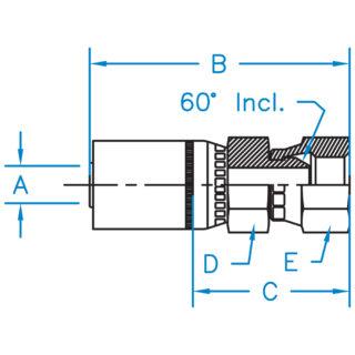British Standard Pipe 60° Cone Female Swivel